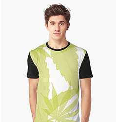 cannabis design t-shirt